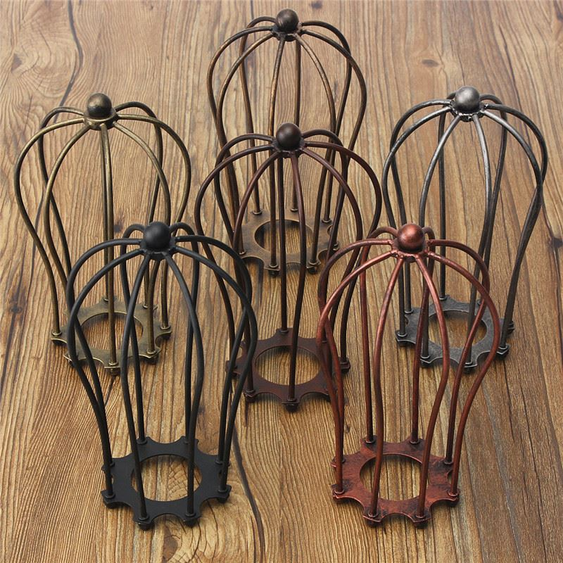 Vintage lamp covers metal wire shades antique pendant led bulb industrial vintage antique lamp covers metal wire pendant bulb chandelier cage ceiling hanging guard cafe bars keyboard keysfo Images
