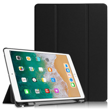 Tablet Cover For ipad Pro 10.5 Case with Apple Pencil Holder PU Leather Silicone Soft Cover Smart Case For Apple ipad Pro 10.5