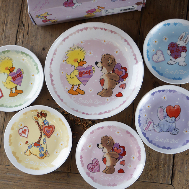 Suzy S Zoo Baby Plate Set Dinnerware Feeding Kids Dishes Child Dinner Plates Sets
