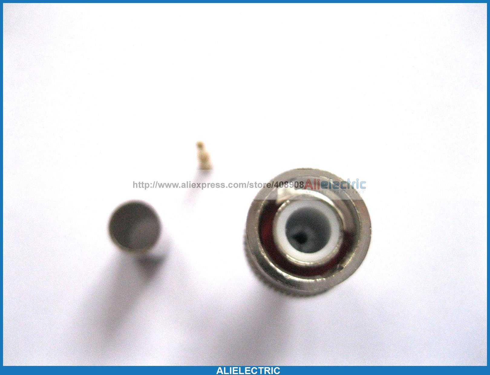 цена на 30 Set BNC Plug Crimp Coaxial Connector 3 Piece for RG59
