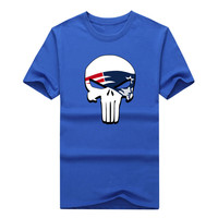 New England Shirt Punisher Skull T Shirt Rob Gronkowski Tom Brady Short Sleeve Patriots T Shirt