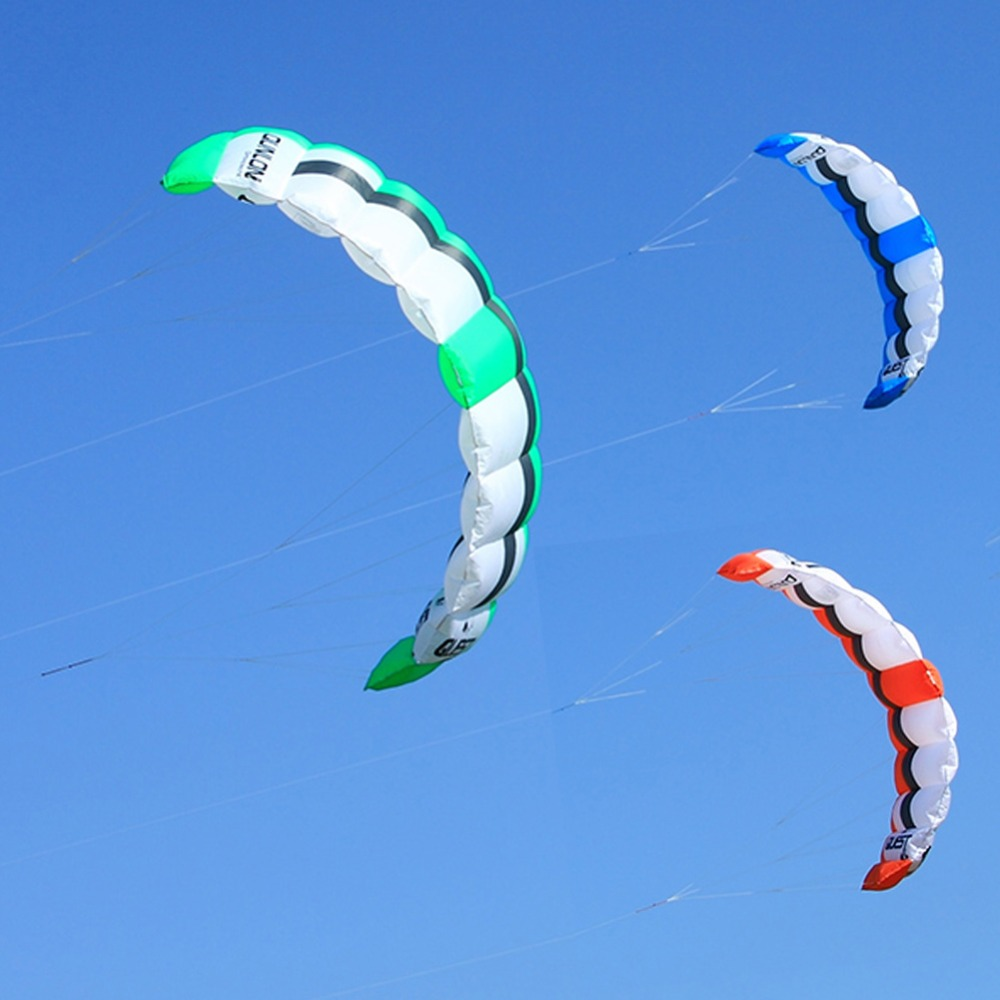 Dual Line Power Kite 2 Sqm Easy Flying Traction Kite Outdoor Sport Kiteboarding Kitesurfing Trainer Kite 3 Colors kite kite школьный рюкзак для подростков sport черный