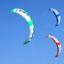 Dual Line Power Kite 2 Sqm Einfach Fliegen Traktion Kite Outdoor Sport Kiteboarding Kitesurfen Trainer Kite 3 Farben