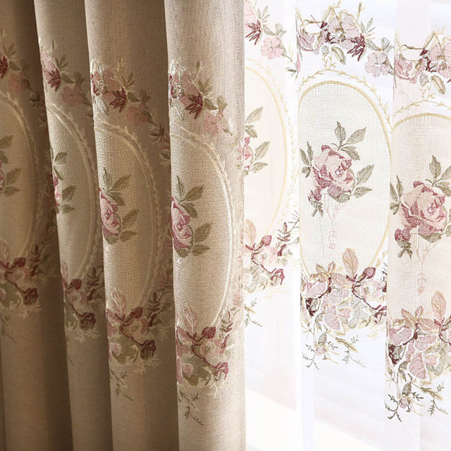 Online Shop Tulle Curtains Set For Living Room Green Window Blinds