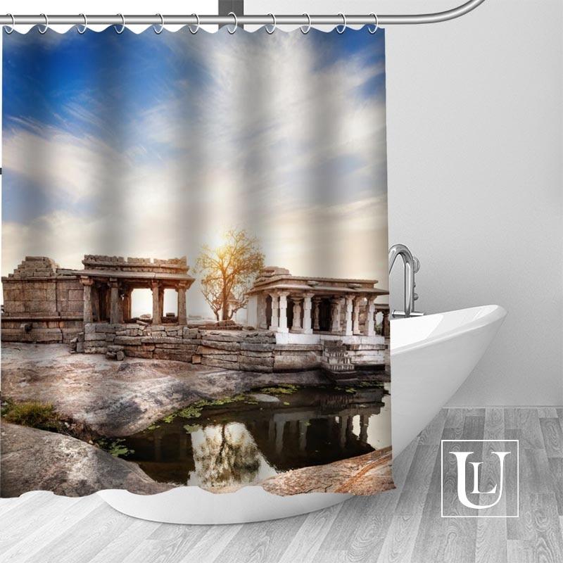 Ancient architecture Pattern Shower Curtain Bathroom Waterproof Curtain Decor