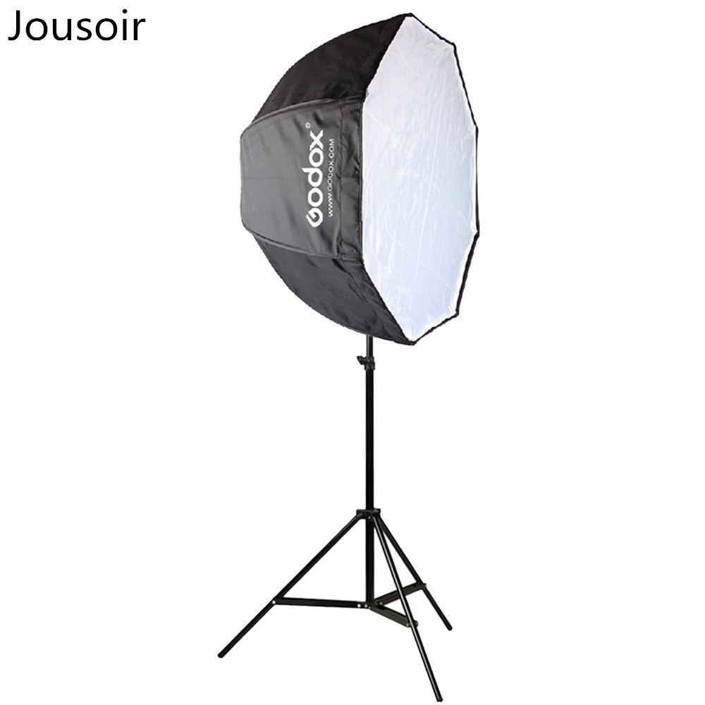 80cm octagon umbrella softbox Light stand umbrella Hot shoe bracket kit for Flash Speedlite CD15
