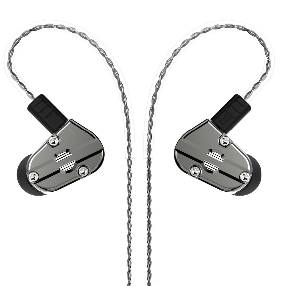 Revonext QT5 1DD+1BA Hybrid In Ear Earphone HIFI DJ Monitor Running Sport Earphone Earplug Headset Earbud QT2/QT3