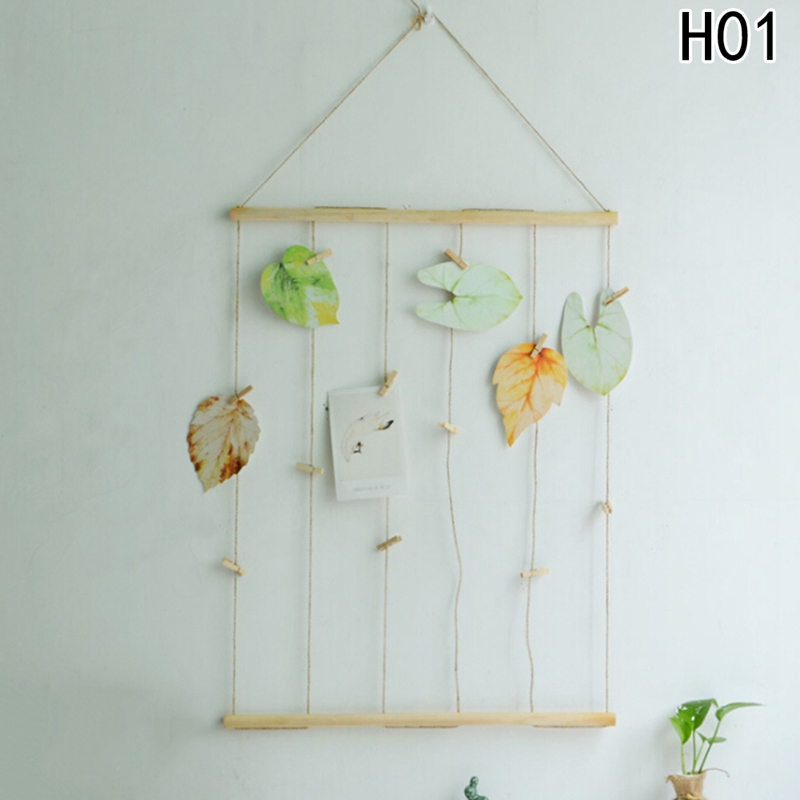 2018 Multi Wall Hanging Picture Frames Set Collage Photos Display With Wooden And Rope