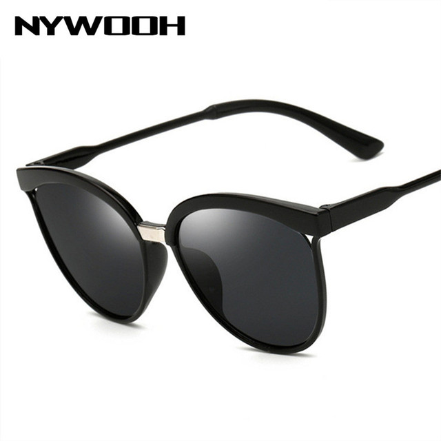 5d1416eeb26 NYWOOH Cat Eye Sunglasses Men Women Brand Designer Mirror Sun Glasses Retro  Cateye Goggles Vintage Eyewear UV400