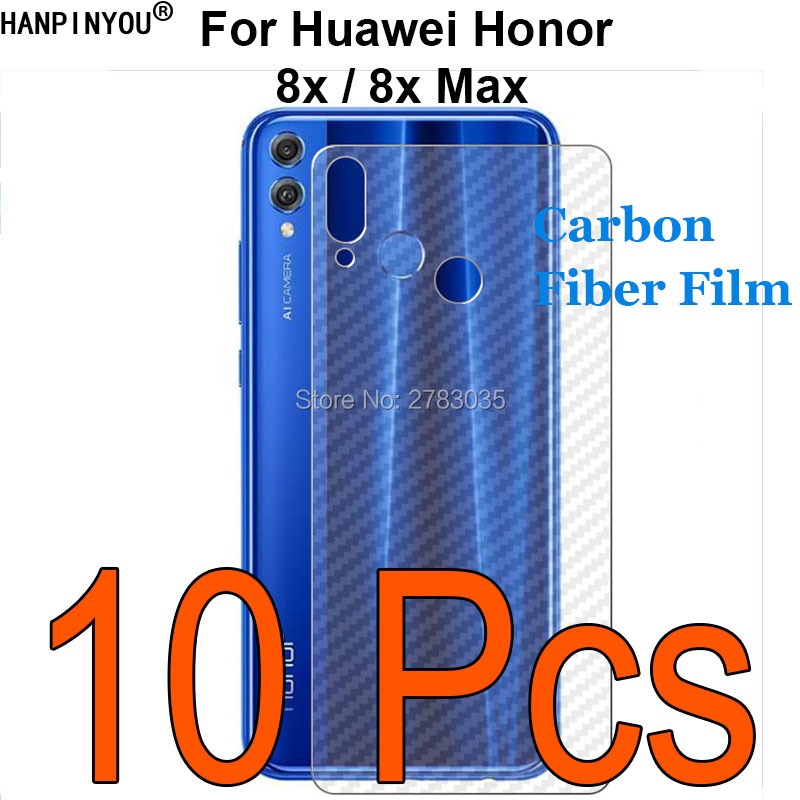 10 Pcs/lot For Huawei Honor 8x /8x Max 3d Anti-fingerprint Carbon Fiber Back Film Rear Screen Protector (not Tempered Glass) Supplement The Vital Energy And Nourish Yin