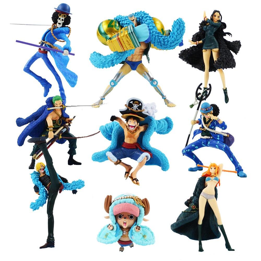 One Piece Monkey D Luffy Usopp Roronoa Zoro Nami: 10 18cm One Piece Burukku FRANKY Monkey D Luffy Nico Robin