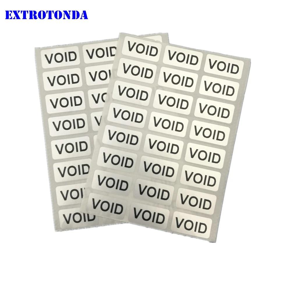 100PCS Hologram Warranty Security Sticker Original Sealing Label Round Package