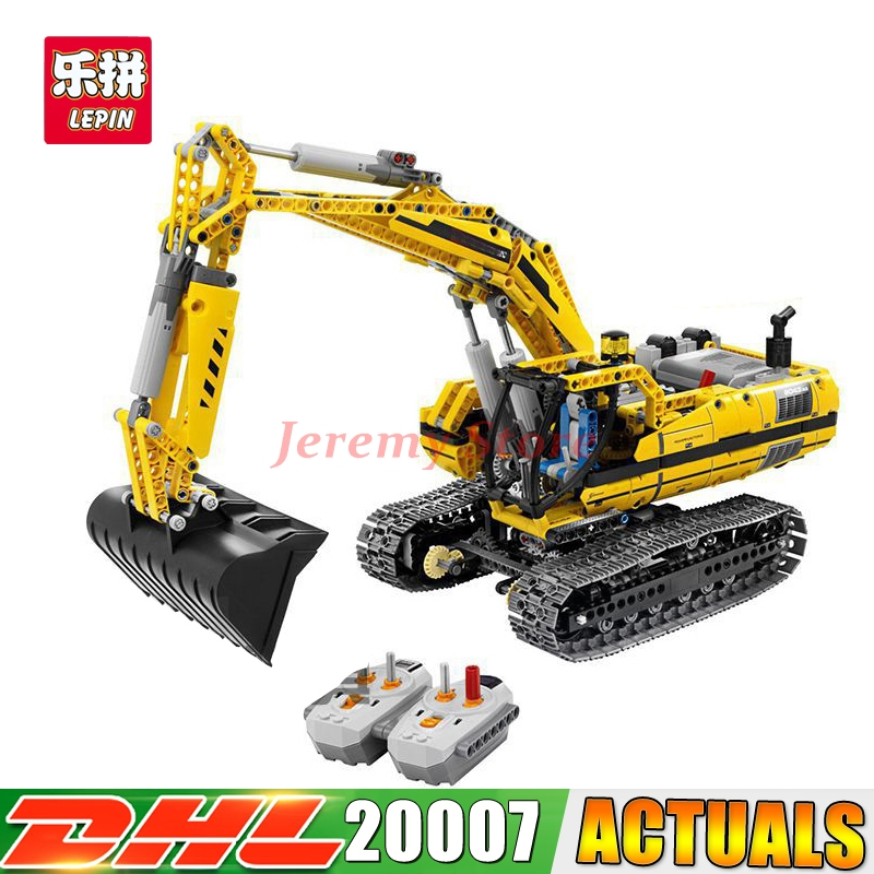 2018 LEPIN 20007 technic series 1123pcs excavator Model Building blocks Bricks Compatible Toy Christmas Gift 8043 Car 2017 lepin 21003 series city car classical travel car model building blocks bricks compatible technic car educational toy 10252