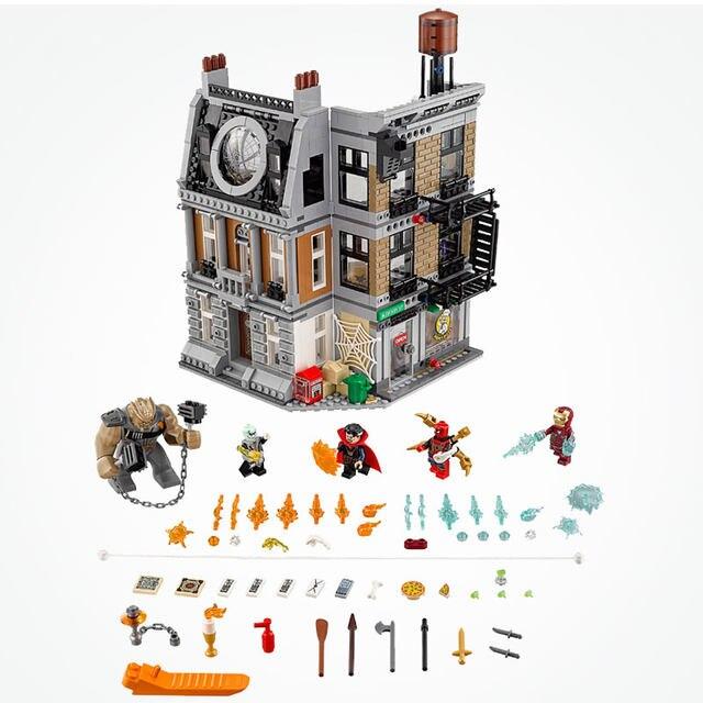 Lepin 07107 Legoing Marvel Super Heroes Sanctum Sanctorum Showdown 76108  Set Legoing Avengers Infinity War Spider Man Iron Man -in Blocks from Toys  &