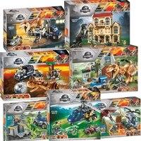 Nouveau monde jurassique dinosaure ensemble avec 10925 10926 10928 modèle blocs de construction briques avec Legoinglys jouet cadeau pour enfants sans boîte