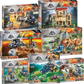 Nowy świat jurajski dinozaur zestaw z 10925 10926 10928 Model klocki klocki z Legoinglys zabawki prezent dla dzieci bez pudełka tanie i dobre opinie YNYNOO Unisex 6 lat Certyfikat Legoe Jurassic World Bloki Jurassic World Legoe Park Plastic