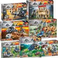 Nowy świat jurajski dinozaur zestaw z 10925 10926 10928 Model klocki klocki z Legoinglys zabawki prezent dla dzieci bez pudełka