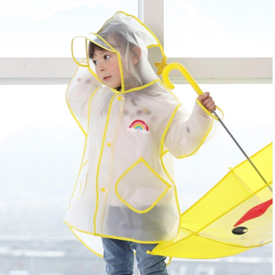 Transparent Waterproof Rain Children Raincoat Poncho Kids Windbreaker Bag for Boys Raincoats Capa De Chuva Rain Gear 60YY305