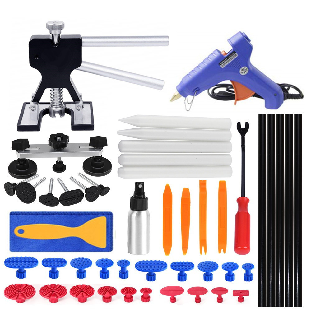 PDR Tools Dent Removal Tools Paintless Dent Repair Tools Kit With Auto Trim Tools Dent Puller Pops A Bridge Puller Pdr Puller