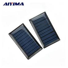 AIYIMA 2PCS 5V 30mA Epoxy Solar Panel Polycrystalline Solar Cell Photovoltaic Panel Power Energy Module DIY Home Solar Sistem