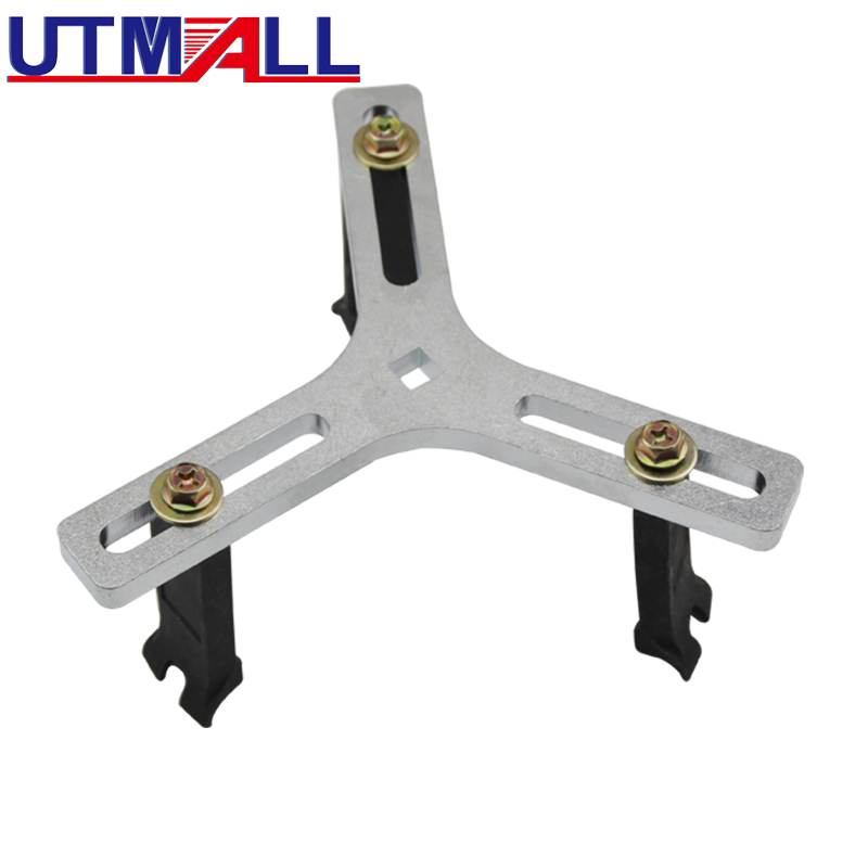UTOOL Adjustable Fuel Pump Send Unit Removal Installer Wrench Fuel Tank Lid Tool 3 Jaw Legs