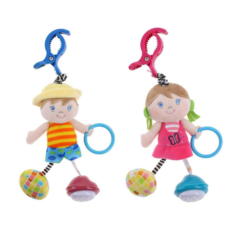 Baby Animal Rattles Toy Kids Soft Boy/Girl Toy Teether With Sounds Infant Stroller/Bed/Crib Hanging Toys