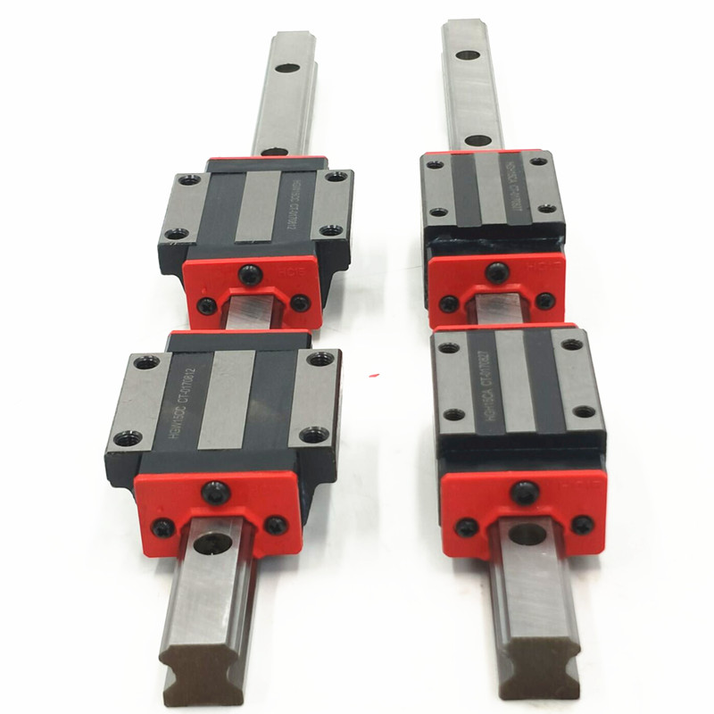 Фотография NEW CNC 15mm 2pcs HGR15 -L 600mm Linear Rail Guides with 4pcs HGW15CC linear block bearing flange carriage