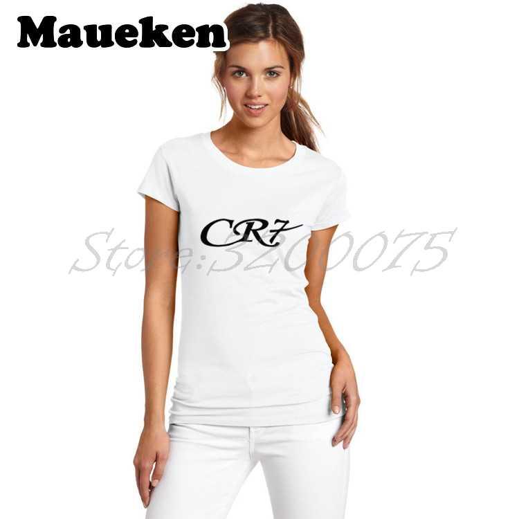 85a030101 Women CR7 Cristiano Ronaldo 7 T-shirt Lady hala T Shirt reals Short Sleeve  Girl