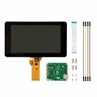 1PC Raspberry Pi 7 Inch Touchscreen Display With Acrylic Base Holder For Raspberry Pi 2B B