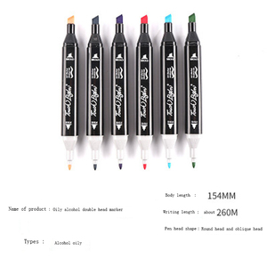 Image 2 - 30/40/60/80 Colors Art Markers Set Dual Head Alcohol Sketch Markers Pen For Manga Drawing Markers Dsign Animation Manga Draw