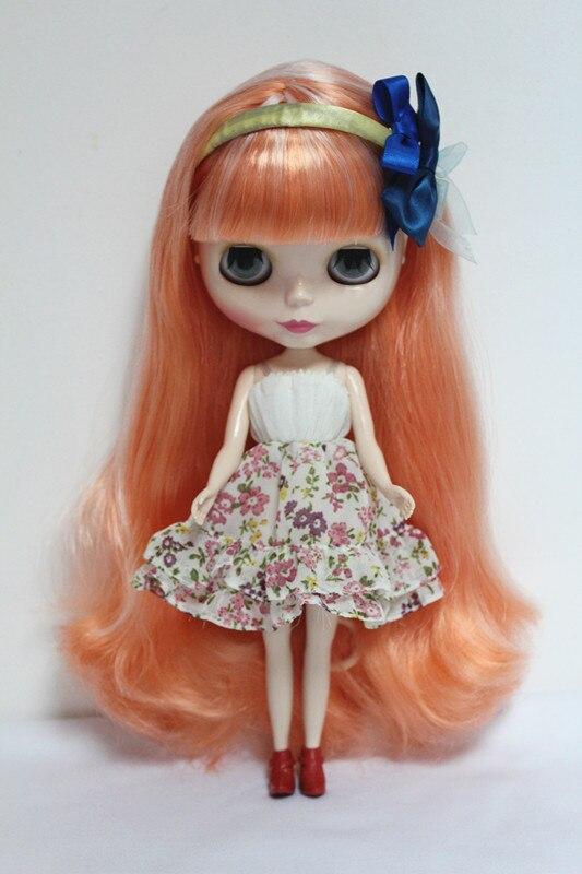 Free Shipping big discount RBL-10DIY Nude Blyth doll birthday gift for girl 4 colour big eyes dolls with beautiful Hair cute toy