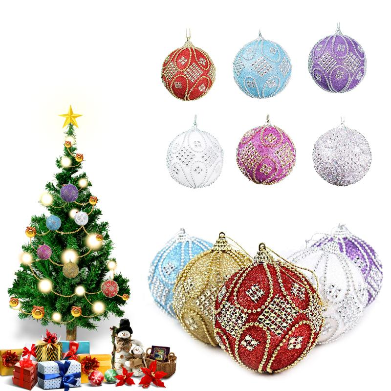christmas tree glitter ball baubles xmas hanging party decor decoration in ball ornaments from home garden on aliexpress com alibaba group