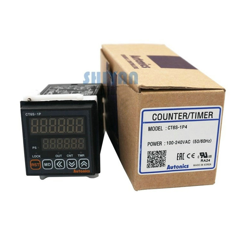 CT6S-1P4 W48 * H48mm 6 chiffres 0.00001 à 999999 compteur de compteur à préréglage unique