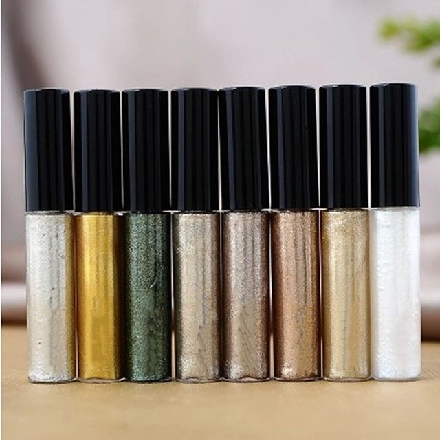 Liquid Glitter Eyeliner waterproof Cosmetics for Women Silver Gold Color Shiny Eye Liners Gel Profissional Makeup 1
