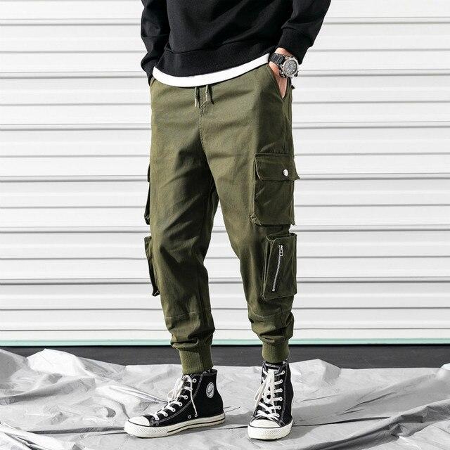 e3b1dfe382a4f 2019 nueva moda de los hombres populares Streetwear Hip Hop Harem  Pantalones Hombre elástico cintura táctico