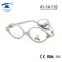 Free Shipping 5 Colors Avaiable New Cute PC Injection Childs Kids Eyeglasses With Case