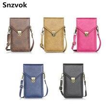 Snzvok Универсальный кожаный мешок мобильного телефона карман сумка для iPhone 6 S Plus для Samsung S6 S7 край A5 A7 J3 J5 J7 2016