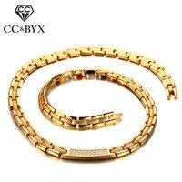 CC Bracelet 48cm Titanium Steel Classic Magnet Therapy Mens Health Bracelets Chain Energy Healing Bangles Jewelry