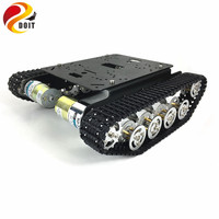 Original DOIT Metal Robot Tank Car Chassis Kit Crawler Tracked Vehicle Track Caterpillar Wali DIY RC Toy Experiment Platform