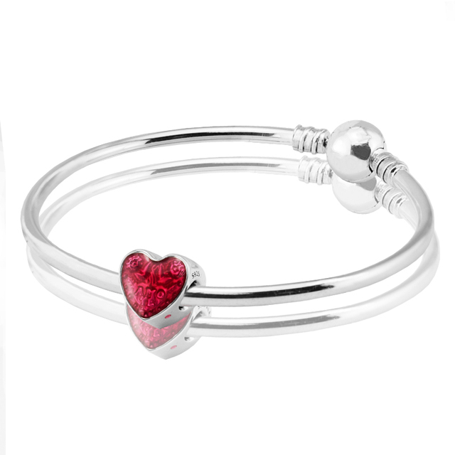 Clasp Bangles 100% Authentic 925 Sterling Silver Jewelry Free Shipping