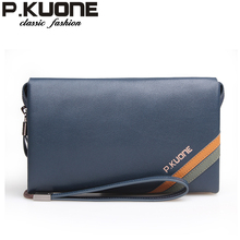 2013 male clutch male genuine leather large capacity day men's soft leather clutch bag wrist length