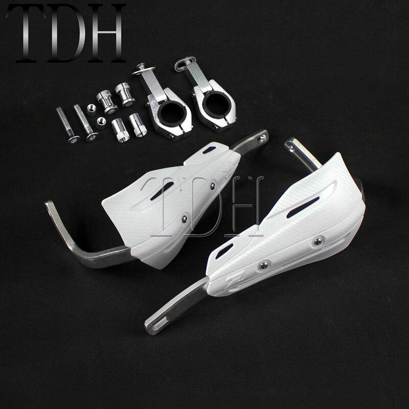"""Vorsichtig Weiß Motorrad 1-1/8 """"28,6mm Xc Lenker Protector Hand Shields Deflektor Rüstung Handprotektoren Für Ktm 125 150 Sx Off Road"""