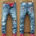 2016 primavera y el verano de ocio flanger agujero mendigo parche adolescentes vaqueros jeans vintage