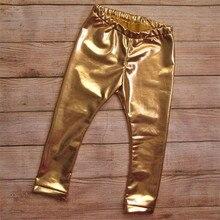Spring Baby Pants Golden white Silver Boys pants Girls Leggings Children Trousers Clothing toddler baby pants-in Pants