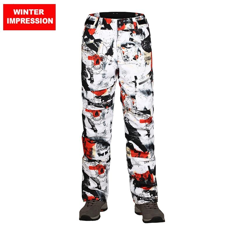 Winter Impression 2019 Ski Pants Men Waterproof Wndproof Pants For Snowboarding Trousers Outdoor Super Warm Skiing Pants