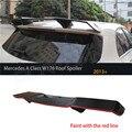 Para Mercedes Classe A A45 AMG W176 A180 A200 Spoiler A220 A250 A260 2013-2016 fibra de Carbono traseira roof spoiler Pintura com Vermelho linha