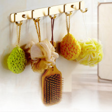 modern Golden luxury wall hook coat clothes towel free shipping