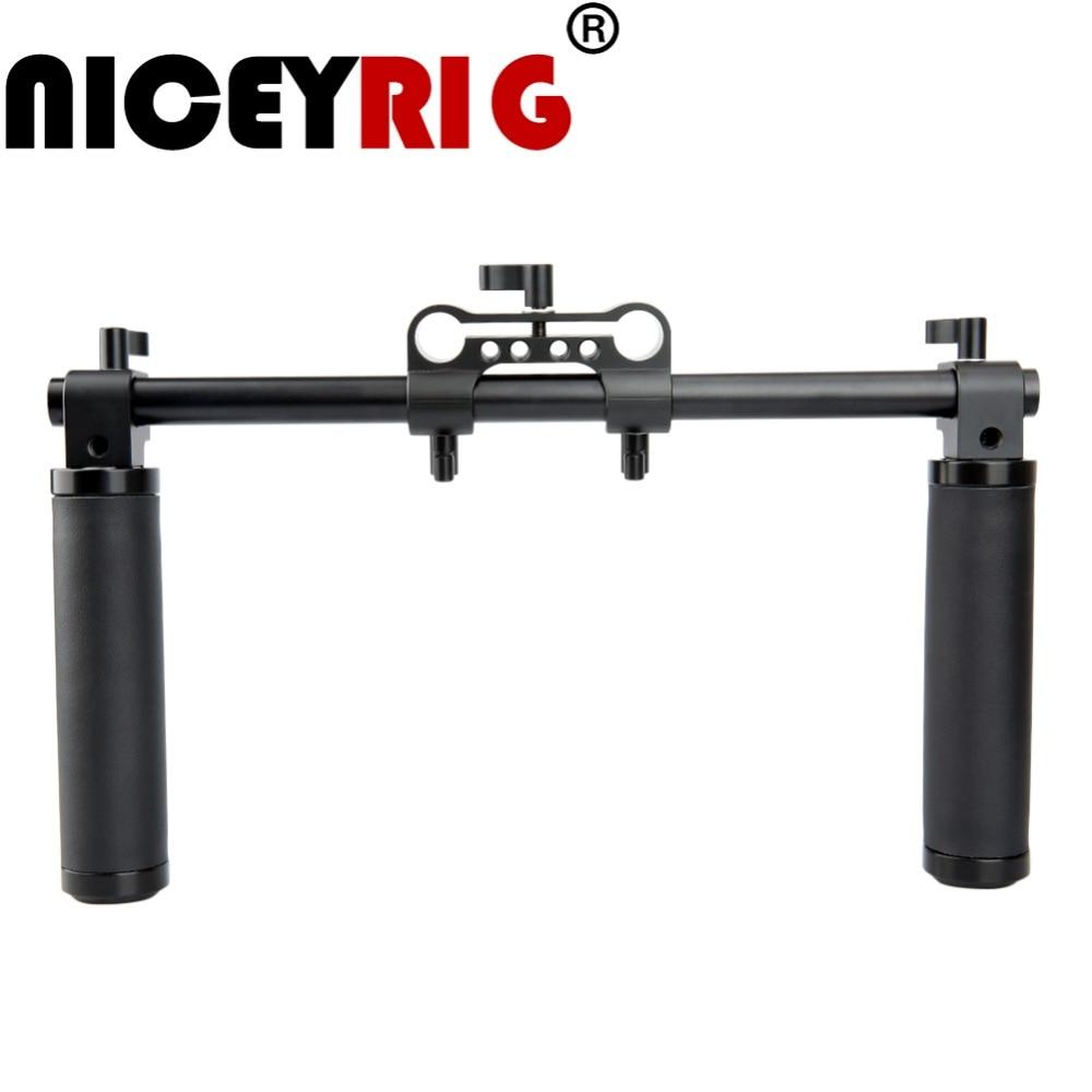 NICEYRIG Shoulder Rig DSLR Shoulder Handle 15mm Support Rig Shoulder Stabilizer Handgrip Camera 15mm Rail Rig
