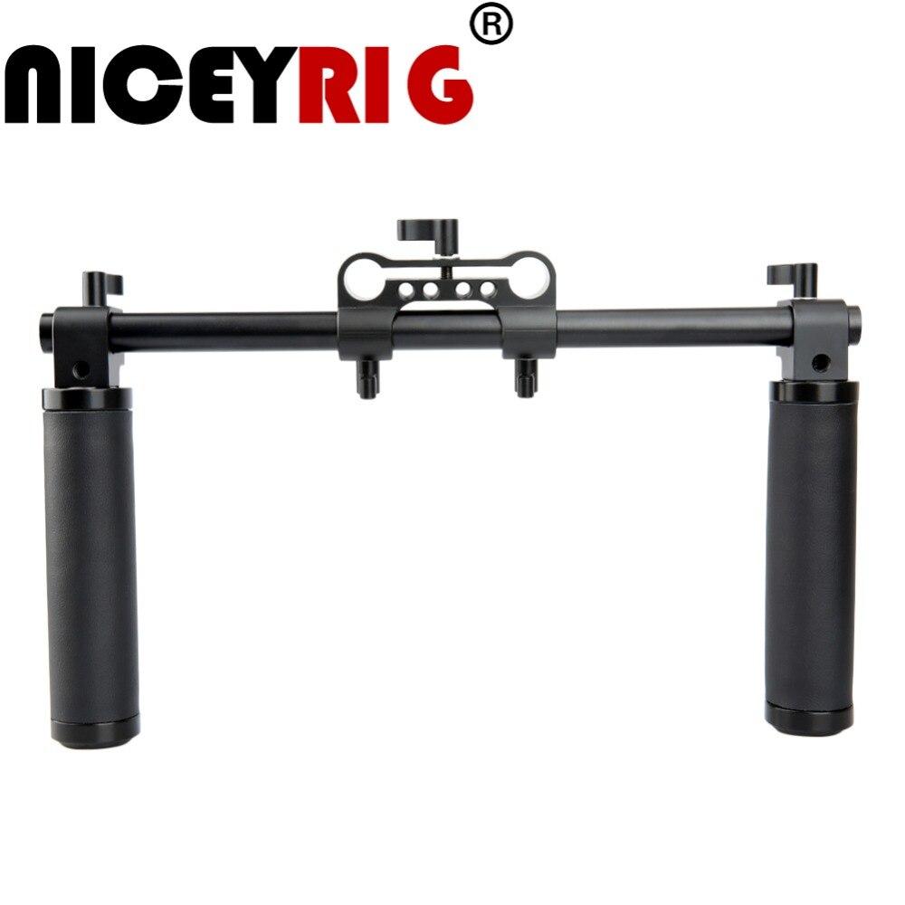 NICEYRIG plate forme d'épaule DSLR poignée d'épaule 15mm Support plate forme d'épaule stabilisateur poignée caméra 15mm Rail plate forme de Rail tige Support-in Cage pour caméra from Electronique    1