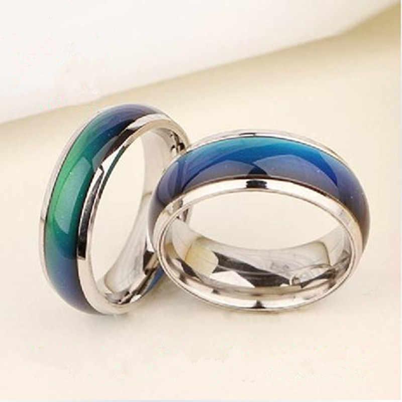 Anéis De Casamento com a mudança de temperatura de cor do Anel de humor magia anéis para mulheres/homens